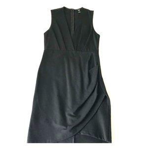 Windsor Deep Plunge Black Dress